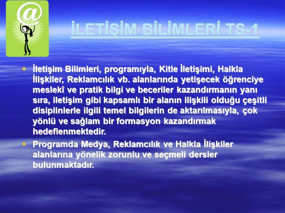 İLETİŞİM BİLİMLERİ TS-1