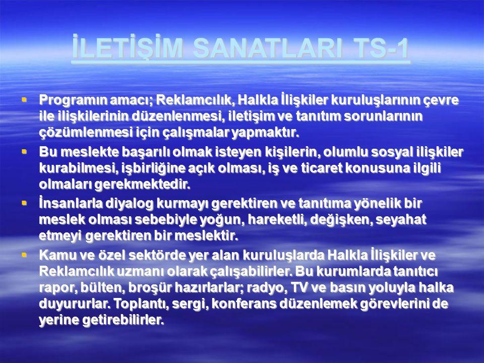 İLETİŞİM SANATLARI TS-1