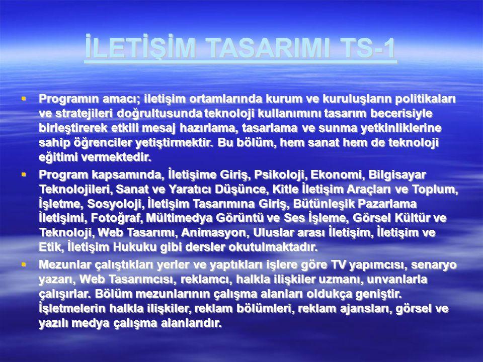 İLETİŞİM TASARIMI TS-1
