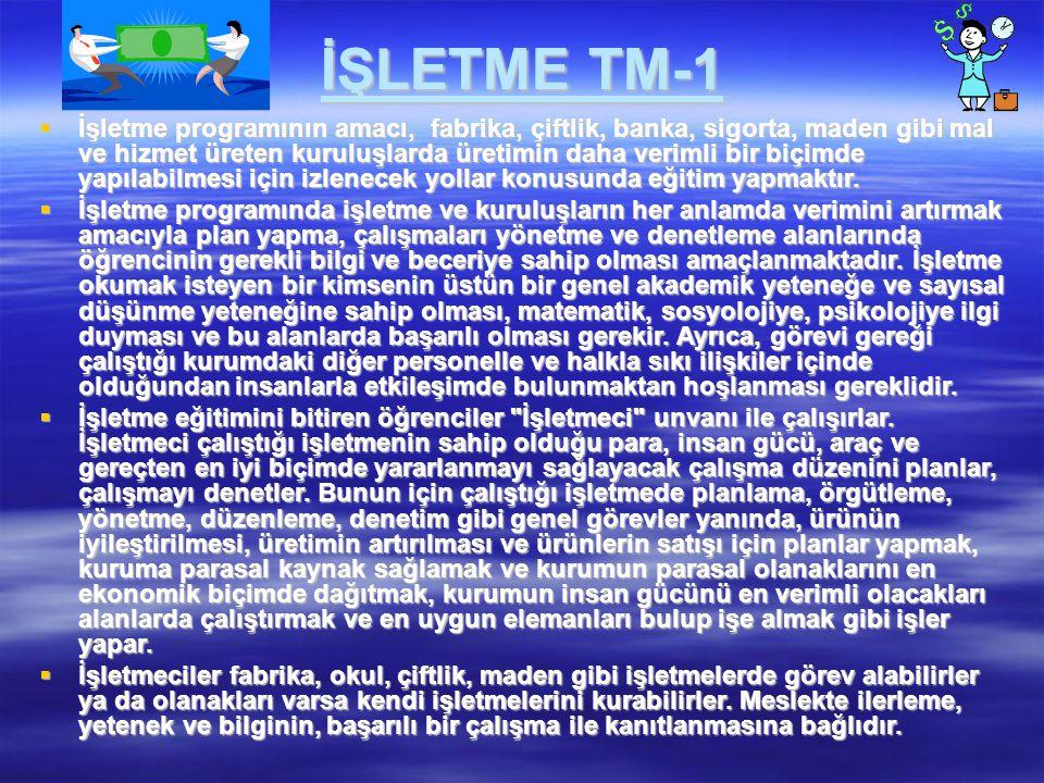 İŞLETME TM-1