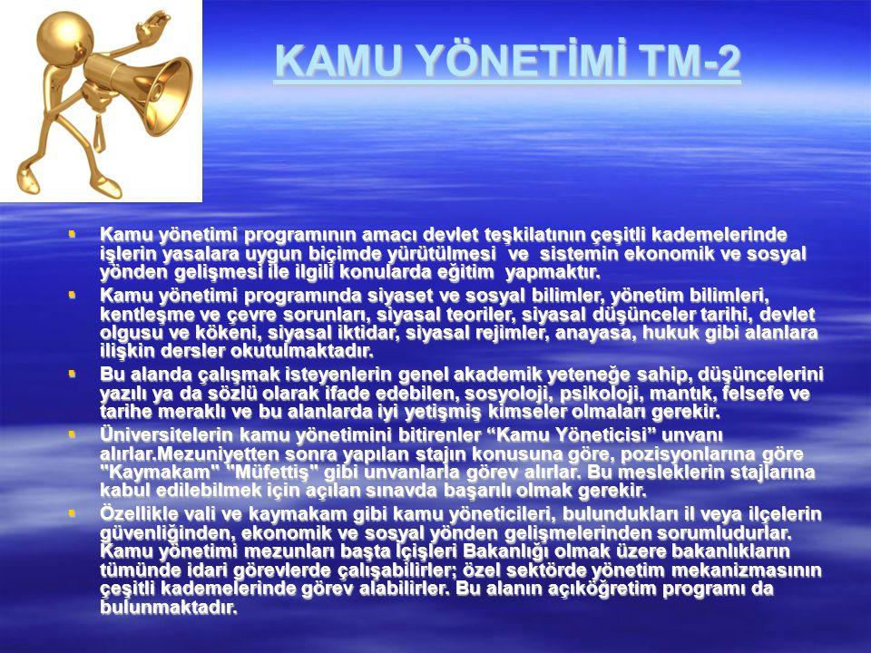 KAMU YÖNETİMİ TM-2