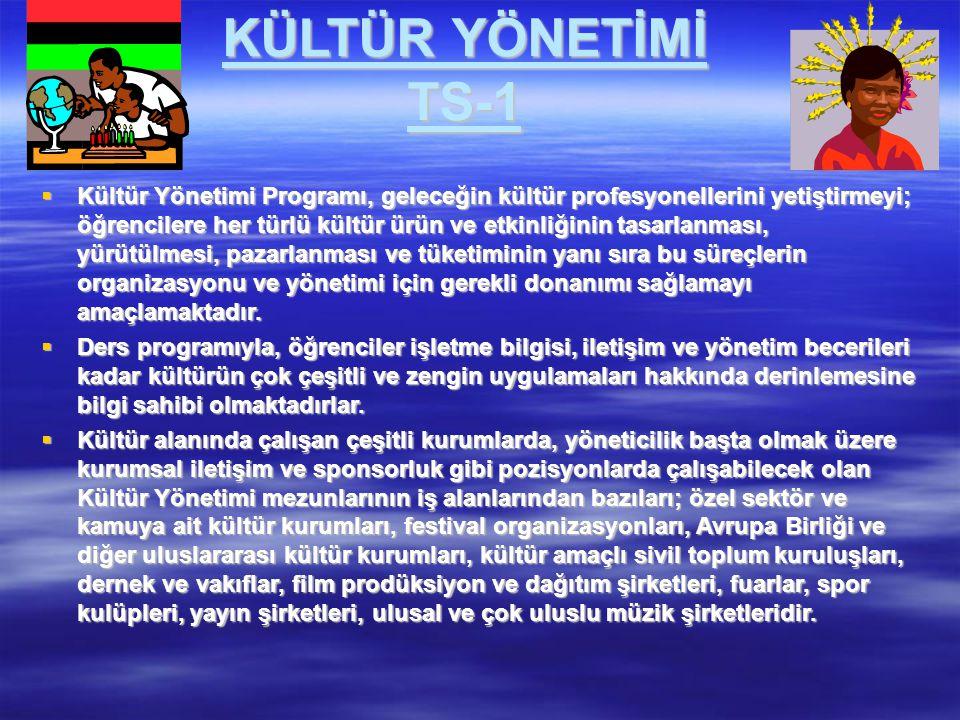 KÜLTÜR YÖNETİMİ TS-1