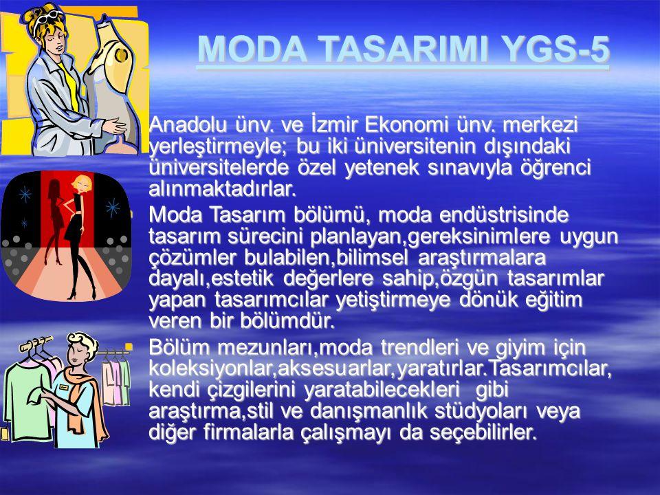 MODA TASARIMI YGS-5