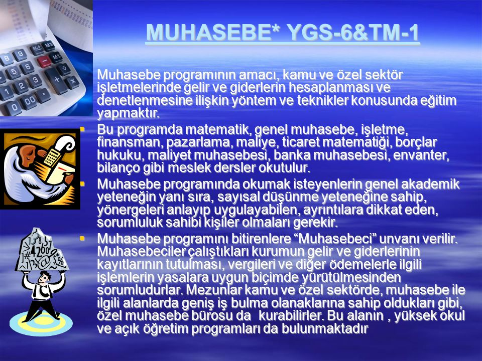 MUHASEBE* YGS-6&TM-1
