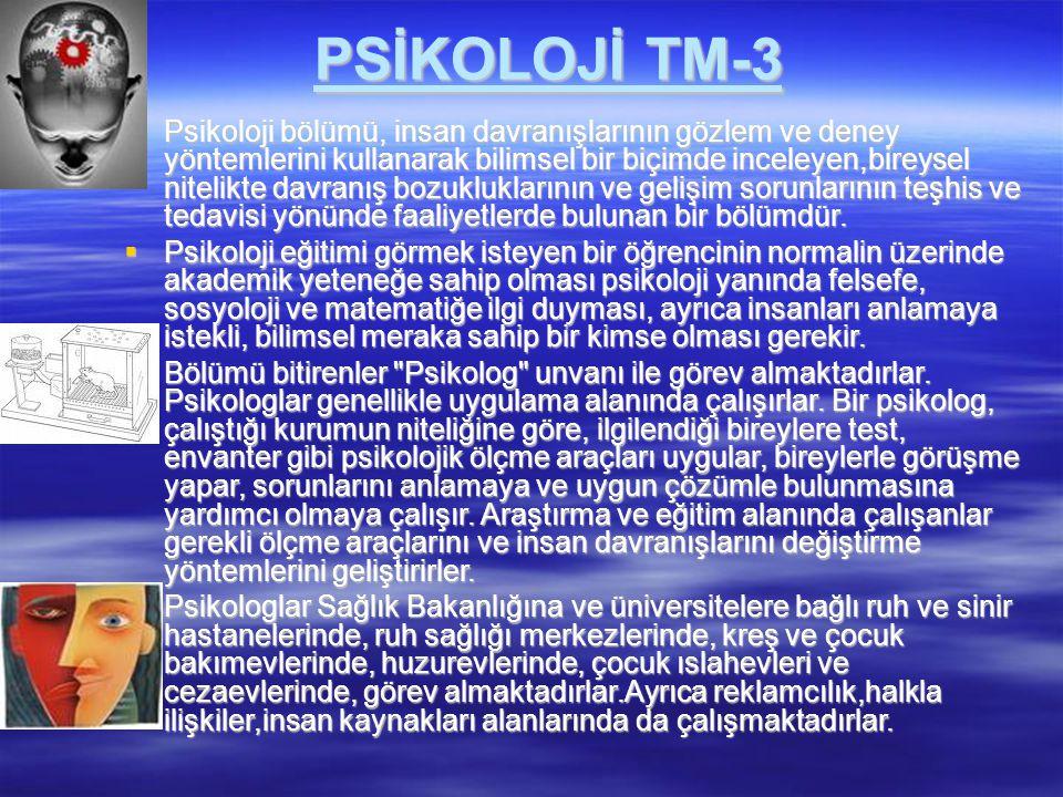 PSİKOLOJİ TM-3