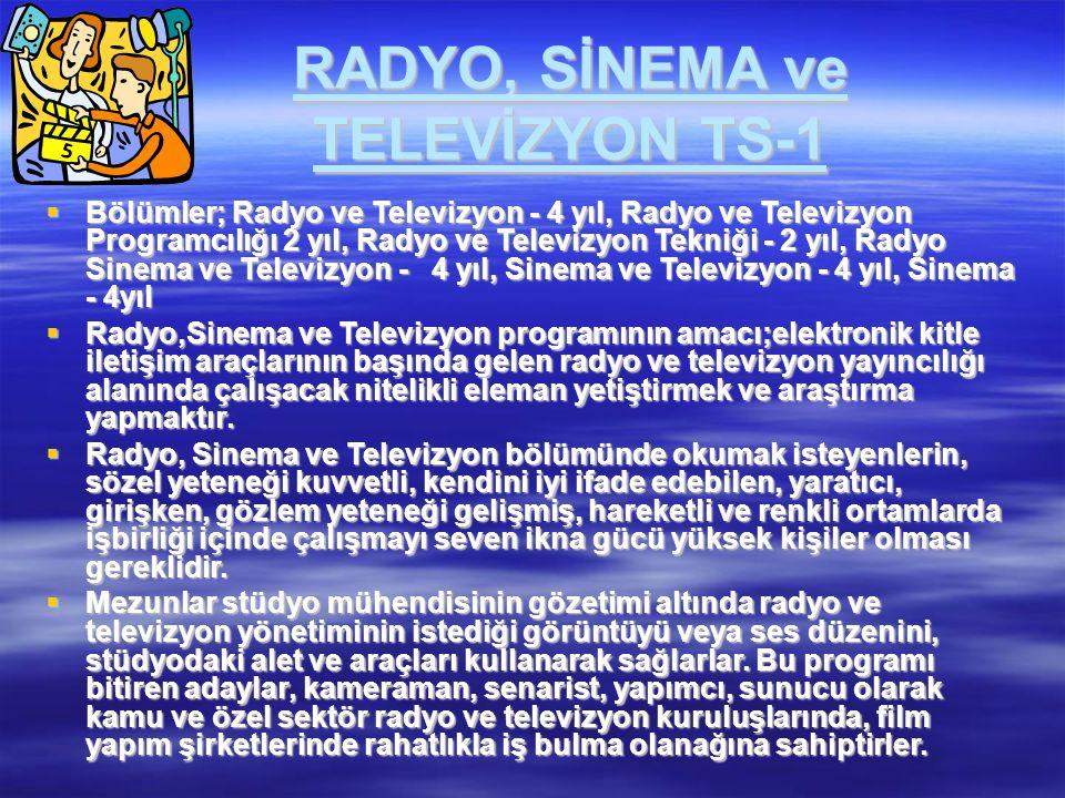 RADYO, SİNEMA ve TELEVİZYON TS-1