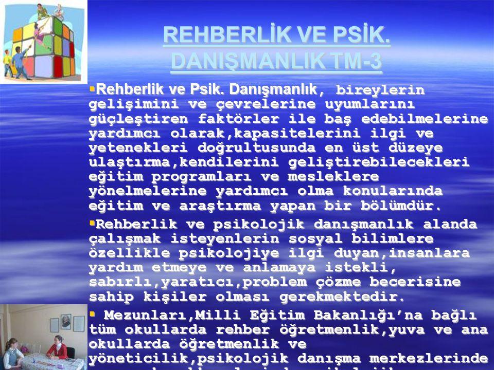 REHBERLİK VE PSİK. DANIŞMANLIK TM-3