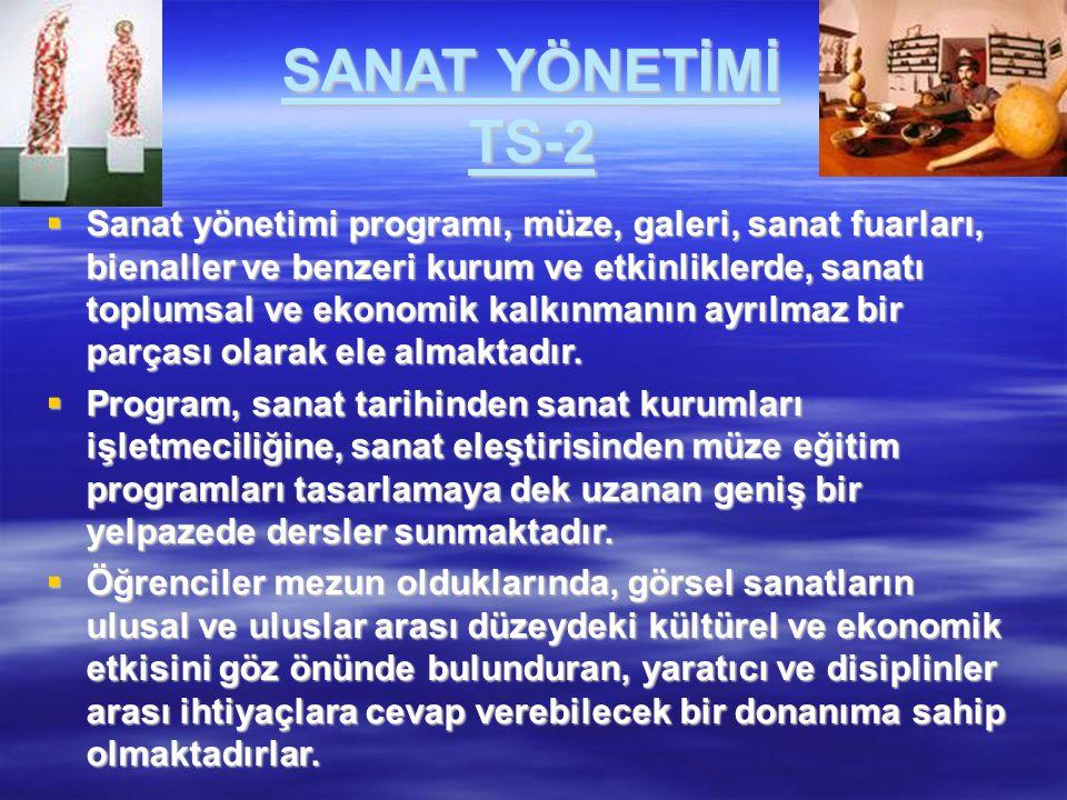 SANAT YÖNETİMİ TS-2