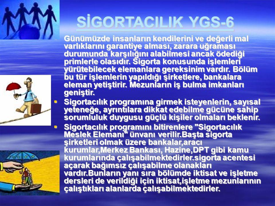 SİGORTACILIK YGS-6
