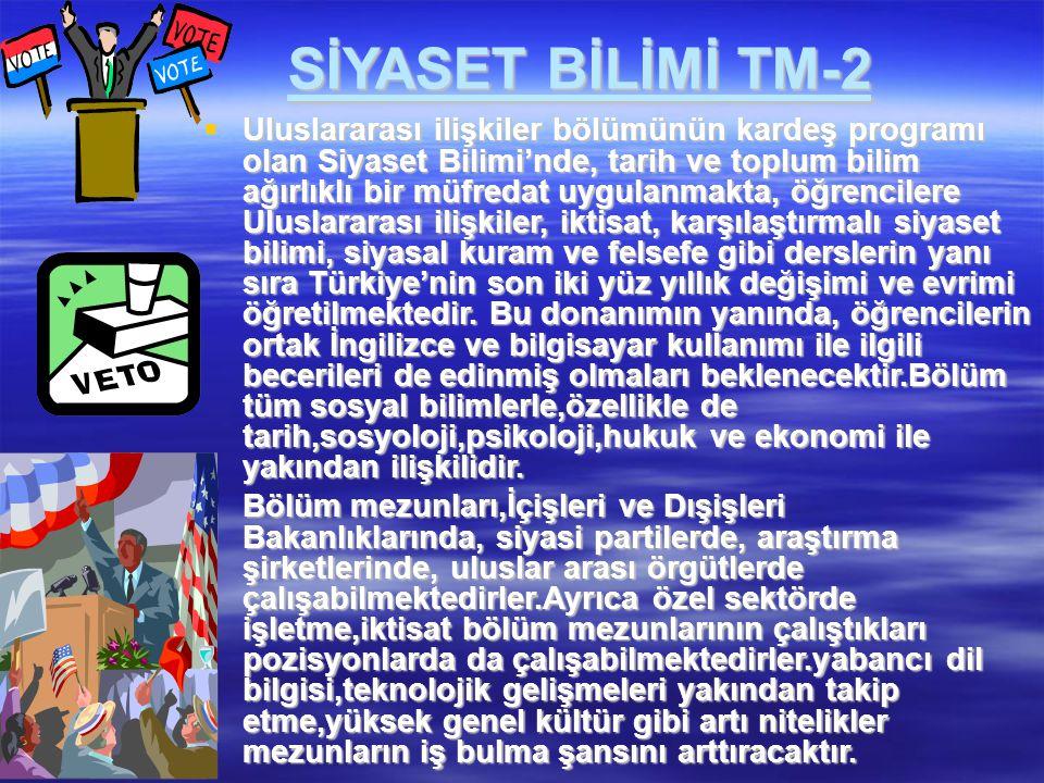 SİYASET BİLİMİ TM-2
