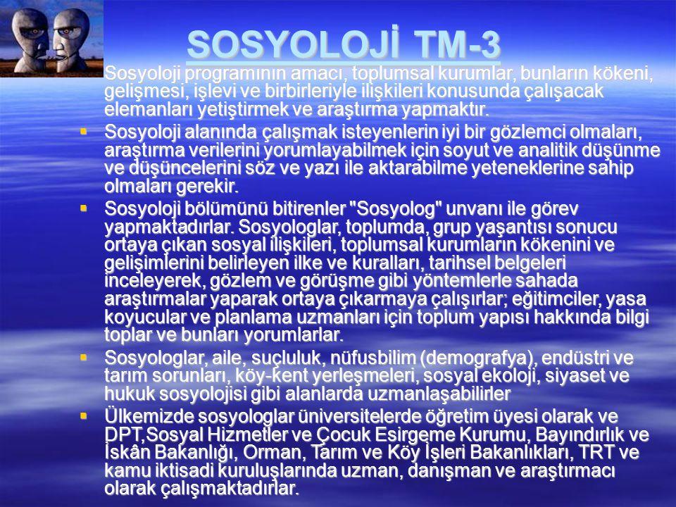 SOSYOLOJİ TM-3