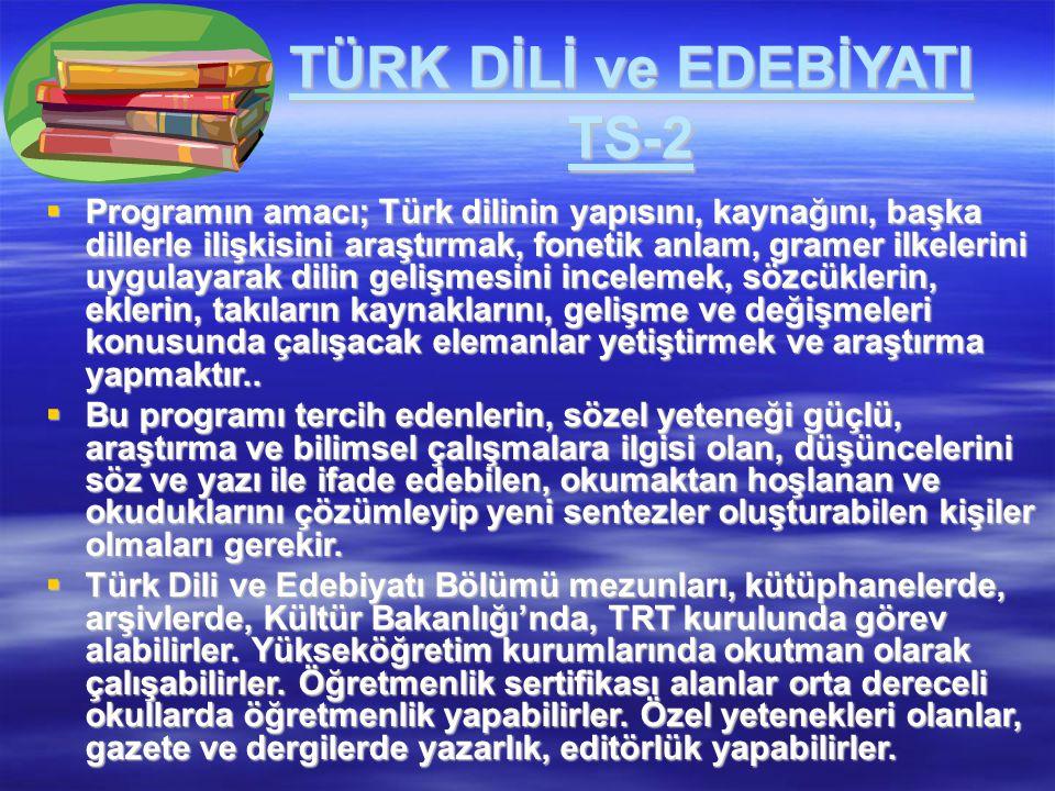 TÜRK DİLİ ve EDEBİYATI TS-2