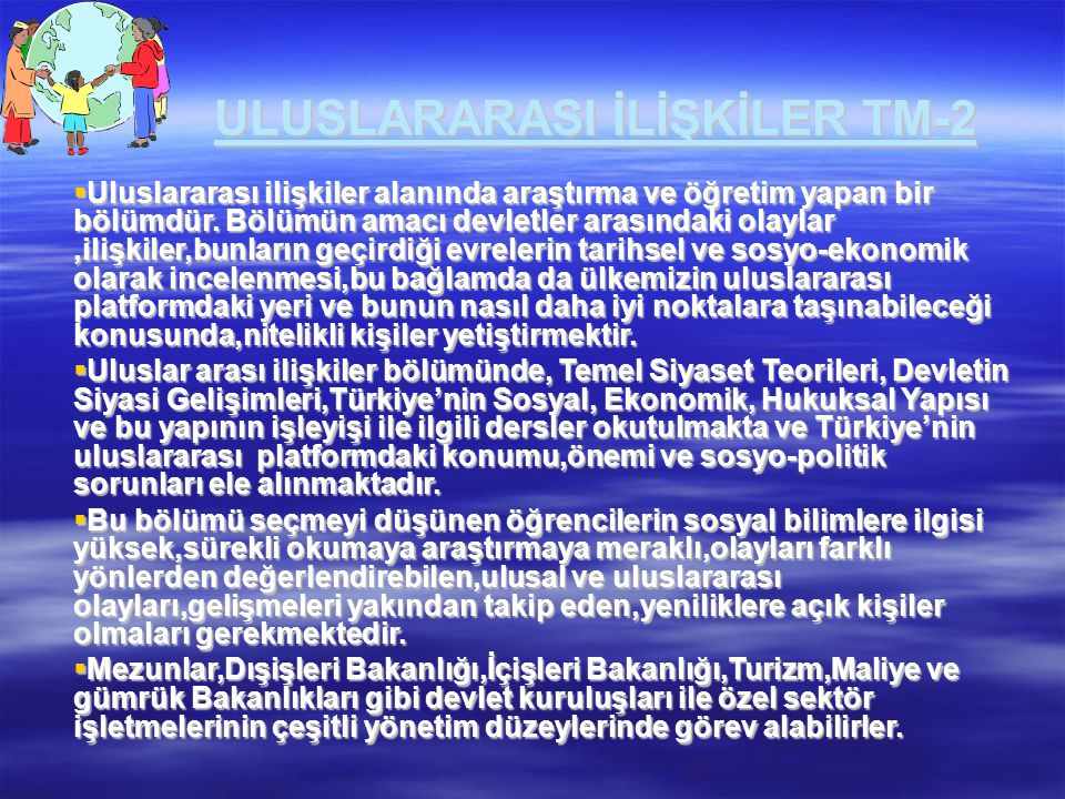 ULUSLARARASI İLİŞKİLER TM-2