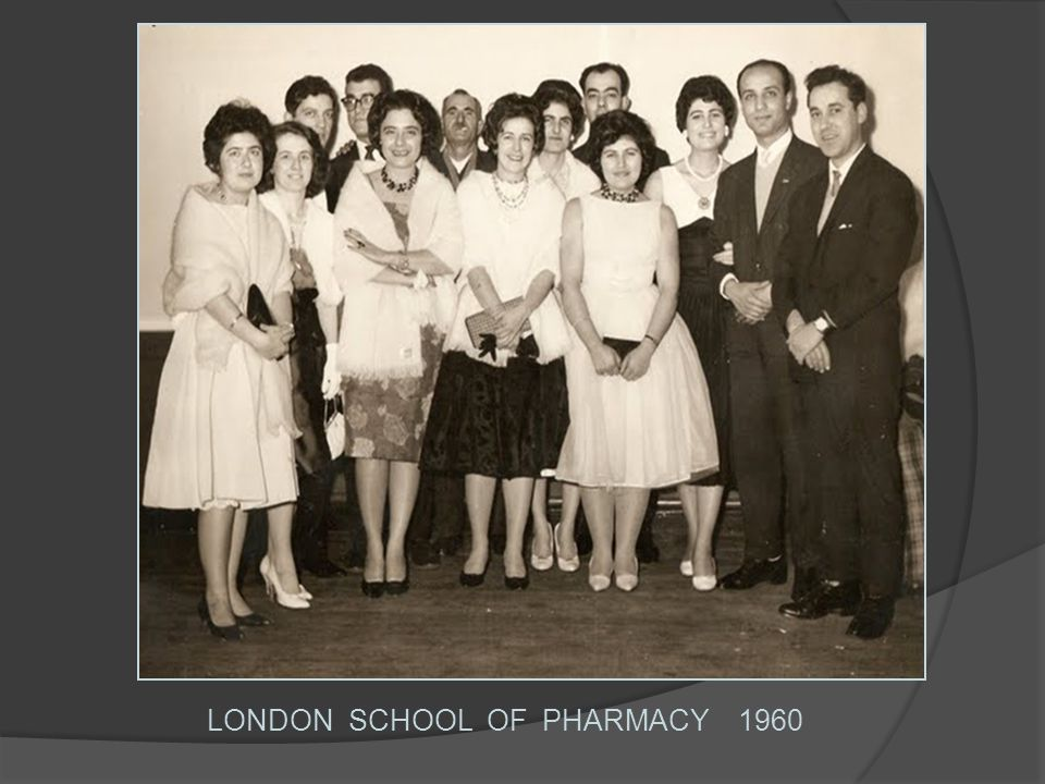 LONDON SCHOOL OF PHARMACY 1960