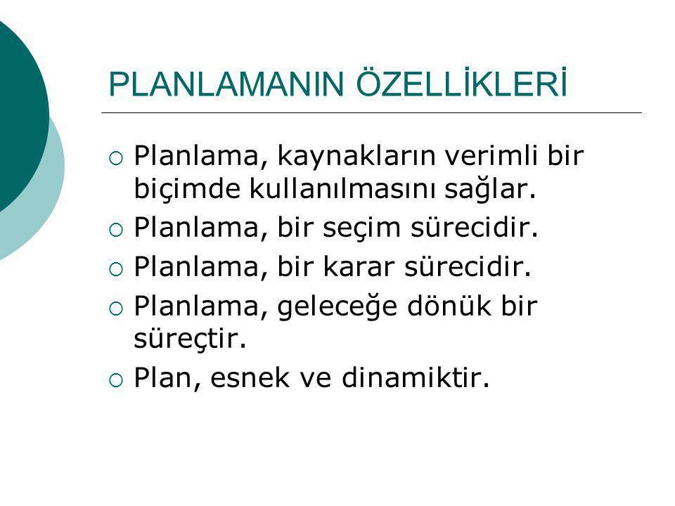 PLANLAMANIN ÖZELLİKLERİ