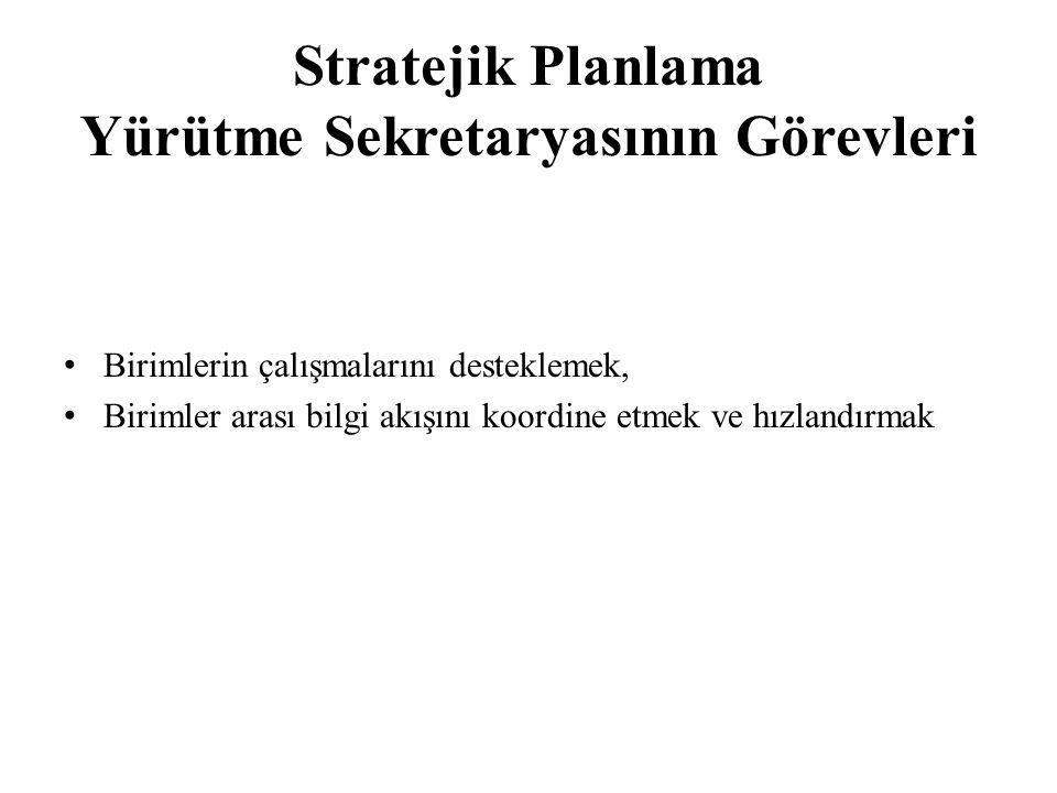 Stratejik Planlama Yürütme Sekretaryasının Görevleri