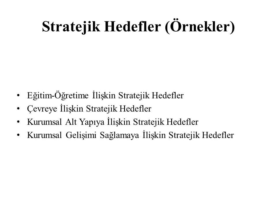 Stratejik Hedefler (Örnekler)