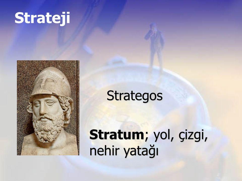 Strateji Strategos Stratum; yol, çizgi, nehir yatağı