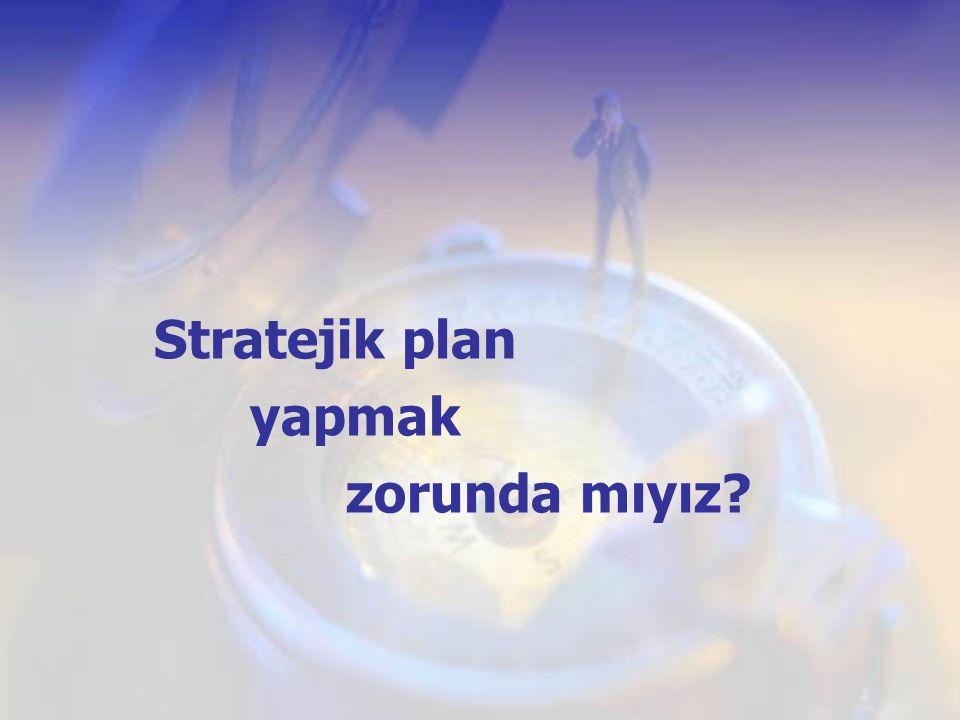 Stratejik plan yapmak zorunda mıyız