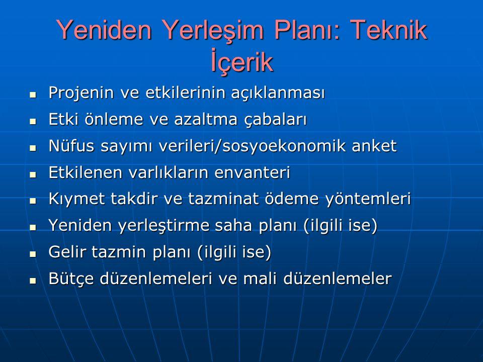 Yeniden Yerleşim Planı: Teknik İçerik