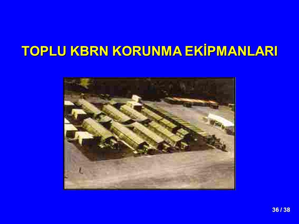 TOPLU KBRN KORUNMA EKİPMANLARI