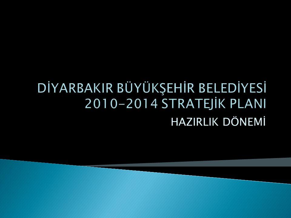 DİYARBAKIR BÜYÜKŞEHİR BELEDİYESİ 2010-2014 STRATEJİK PLANI