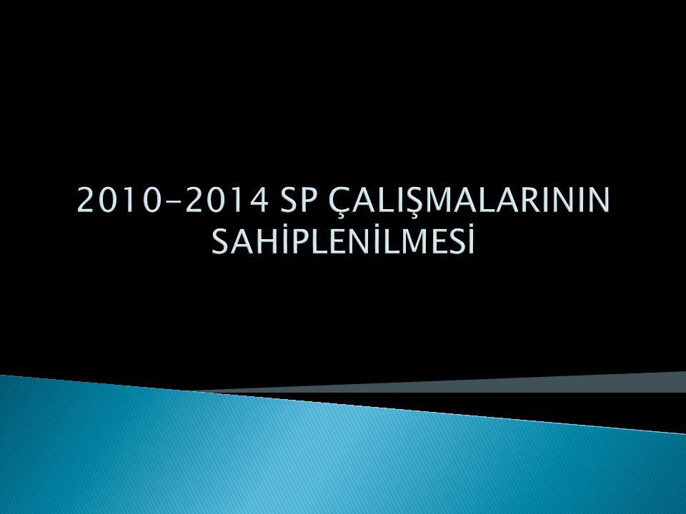 2010-2014 SP ÇALIŞMALARININ SAHİPLENİLMESİ
