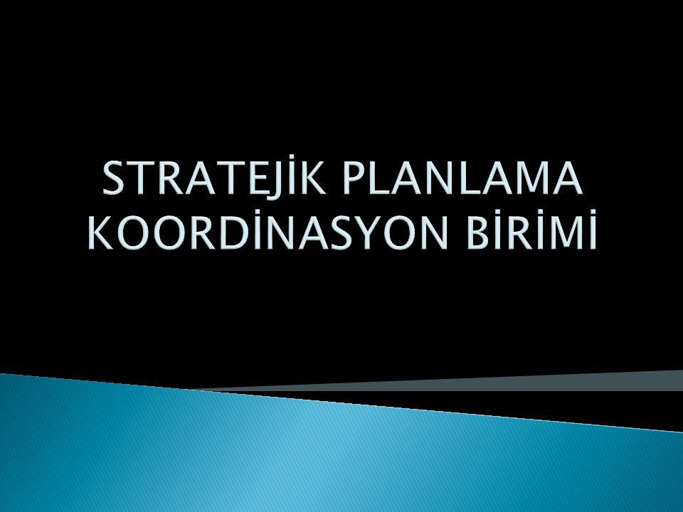 STRATEJİK PLANLAMA KOORDİNASYON BİRİMİ