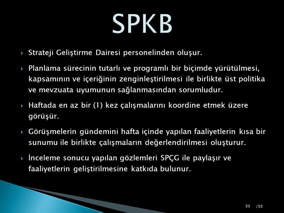 SPKB Strateji Geliştirme Dairesi personelinden oluşur.