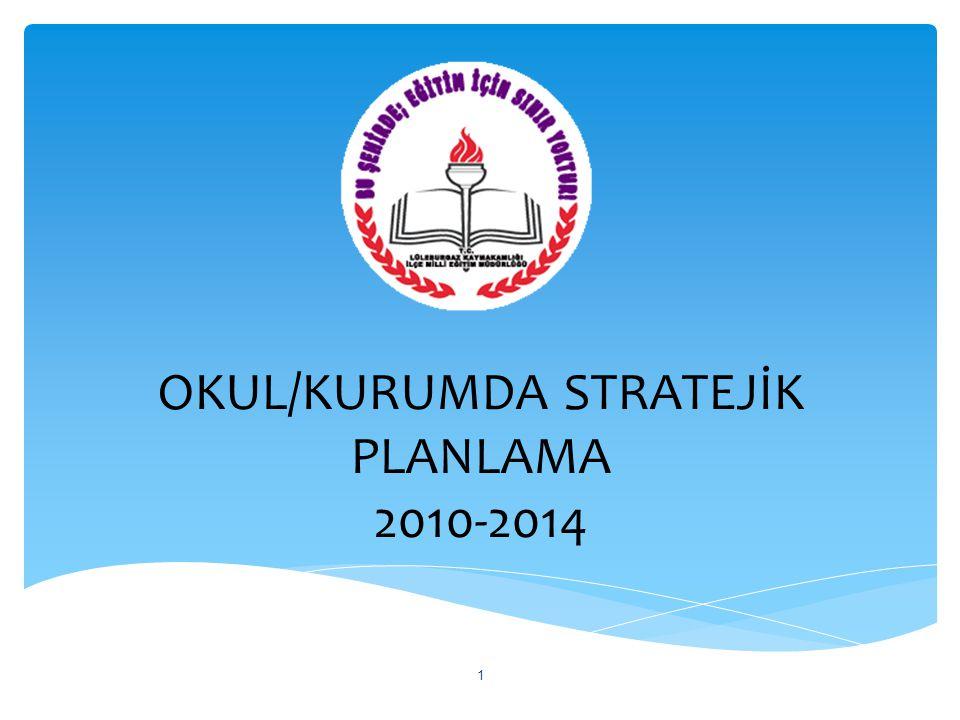 OKUL/KURUMDA STRATEJİK PLANLAMA 2010-2014
