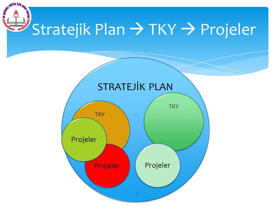 Stratejik Plan  TKY  Projeler