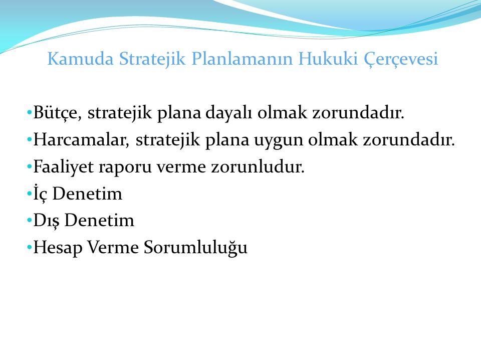 Kamuda Stratejik Planlamanın Hukuki Çerçevesi