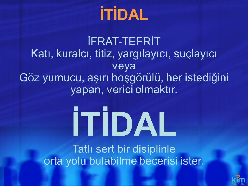 İTİDAL İTİDAL İFRAT-TEFRİT