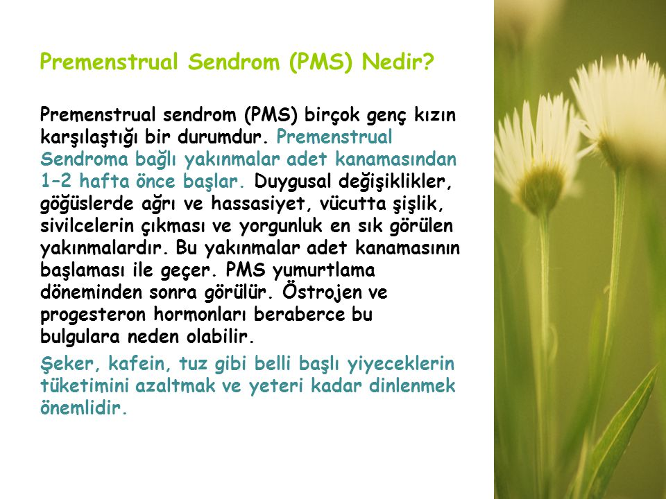 Premenstrual Sendrom (PMS) Nedir