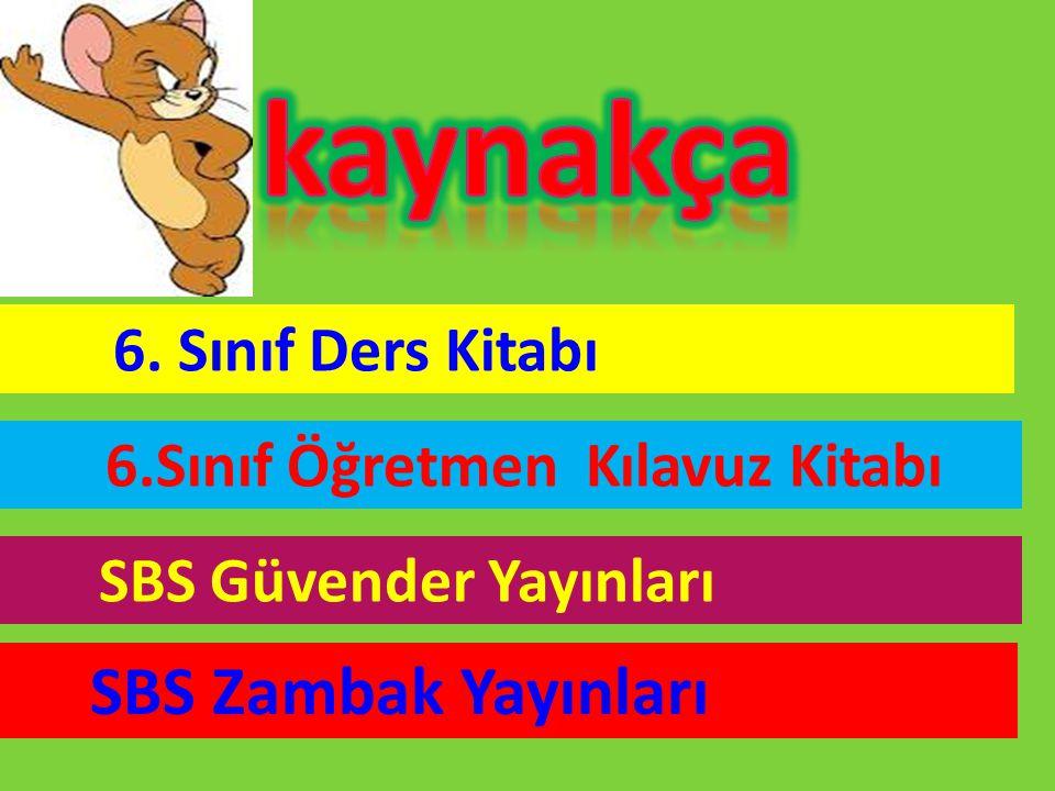 kaynakça SBS Zambak Yayınları SBS Güvender Yayınları