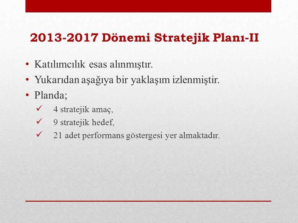 2013-2017 Dönemi Stratejik Planı-II