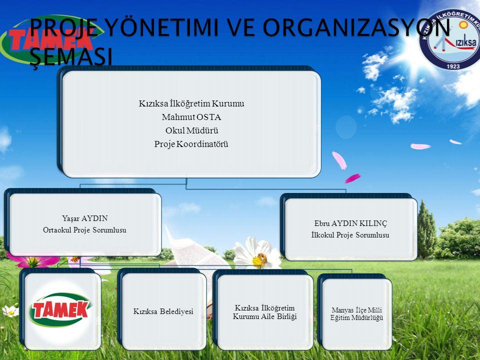 Proje yönetimi ve organizasyon şemasi