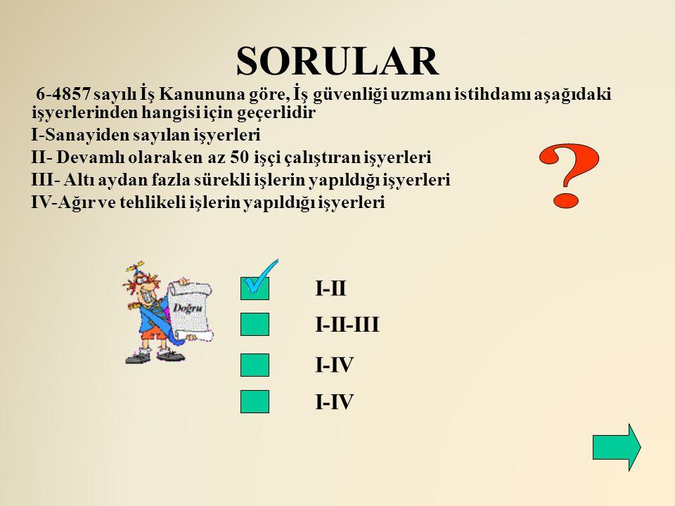 SORULAR I-II I-II-III I-IV I-IV