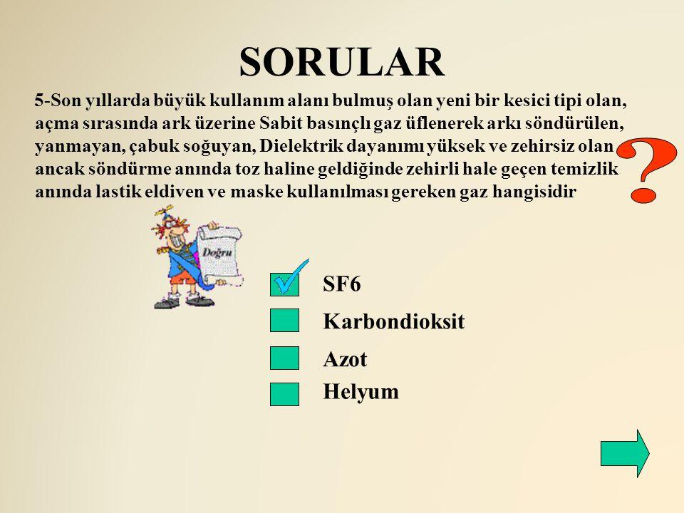 SORULAR SF6 Karbondioksit Azot Helyum