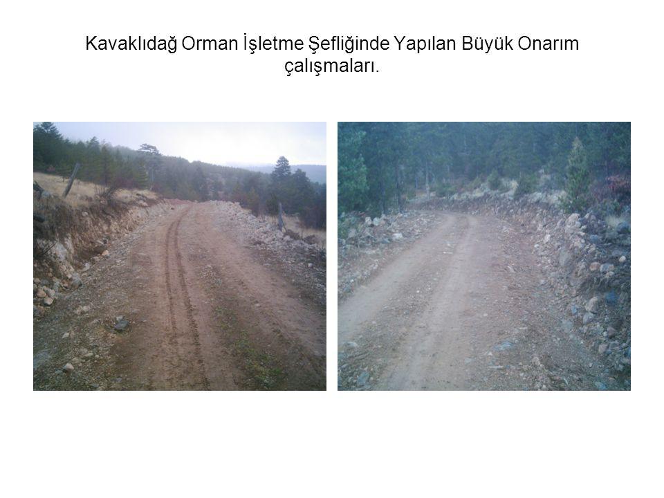 Kavaklıdağ Orman İşletme Şefliğinde Yapılan Büyük Onarım çalışmaları.