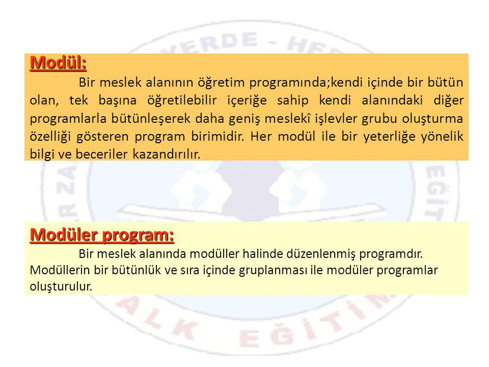 Modül: Modüler program: