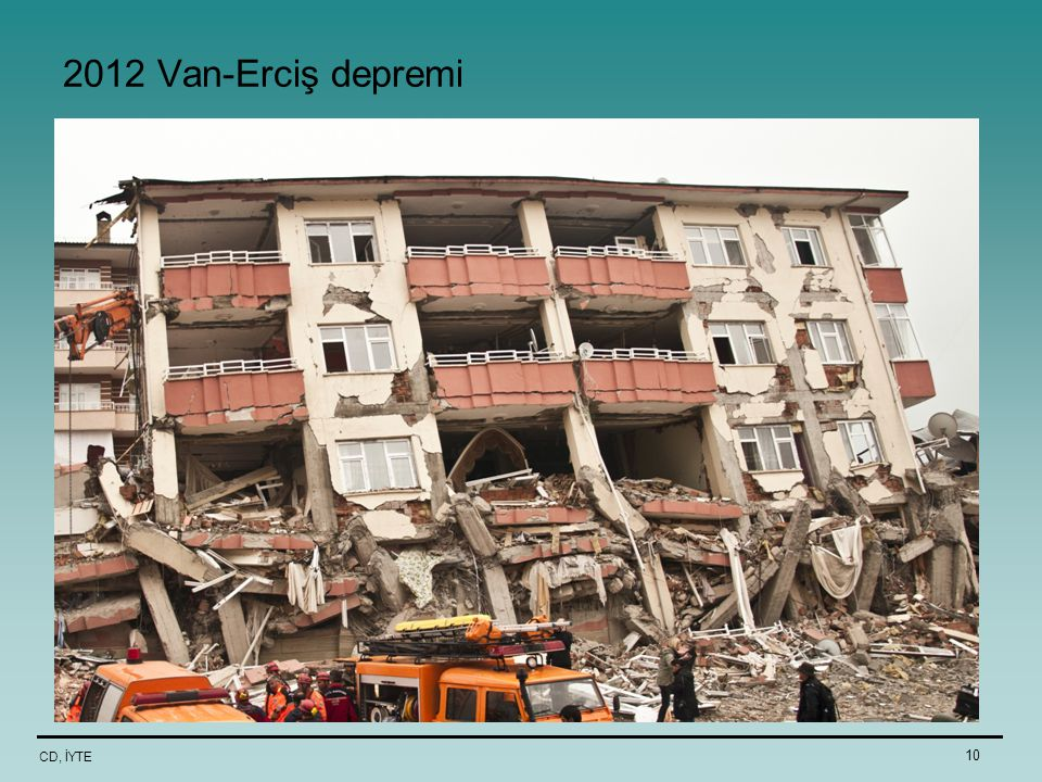 2012 Van-Erciş depremi CD, İYTE