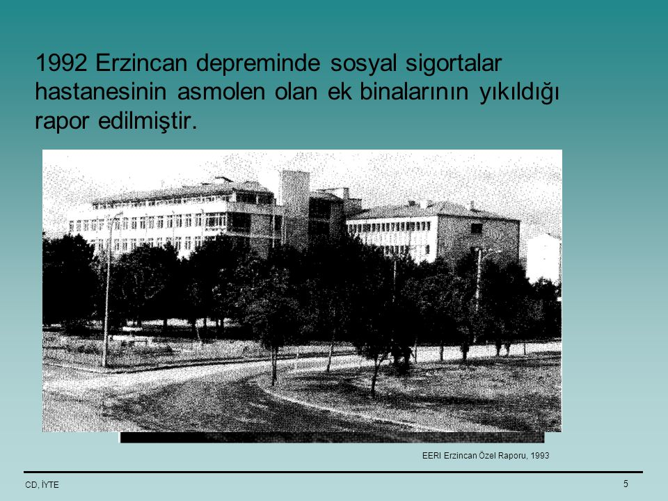 EERI Erzincan Özel Raporu, 1993