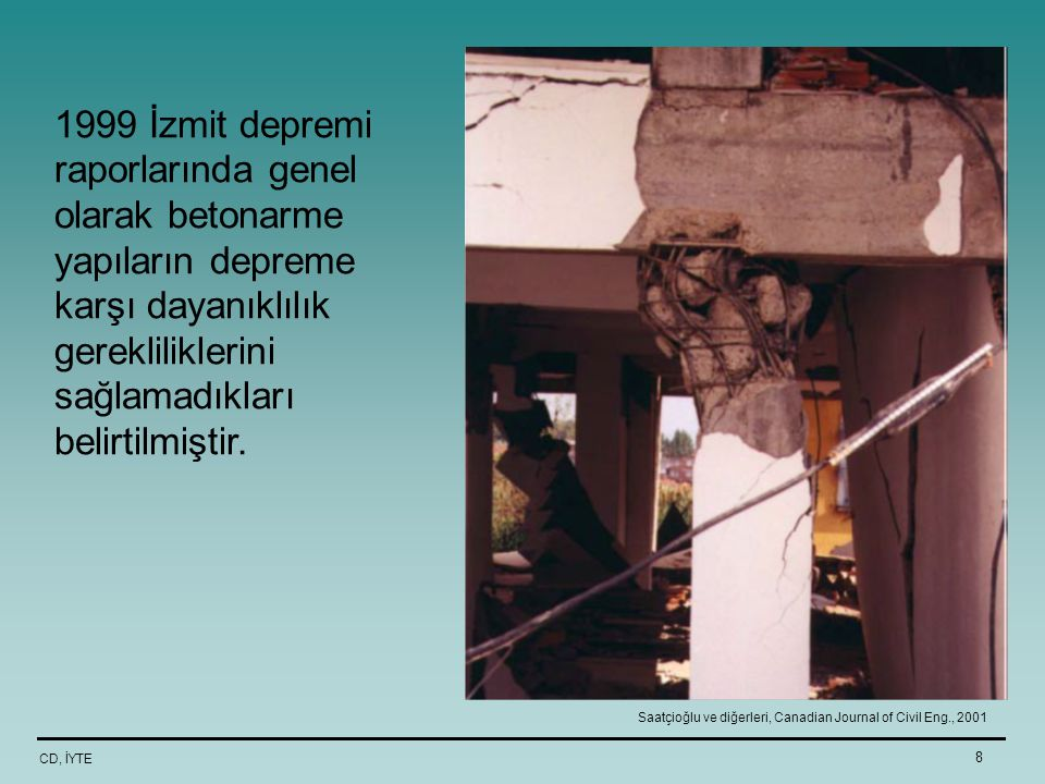 Saatçioğlu ve diğerleri, Canadian Journal of Civil Eng., 2001