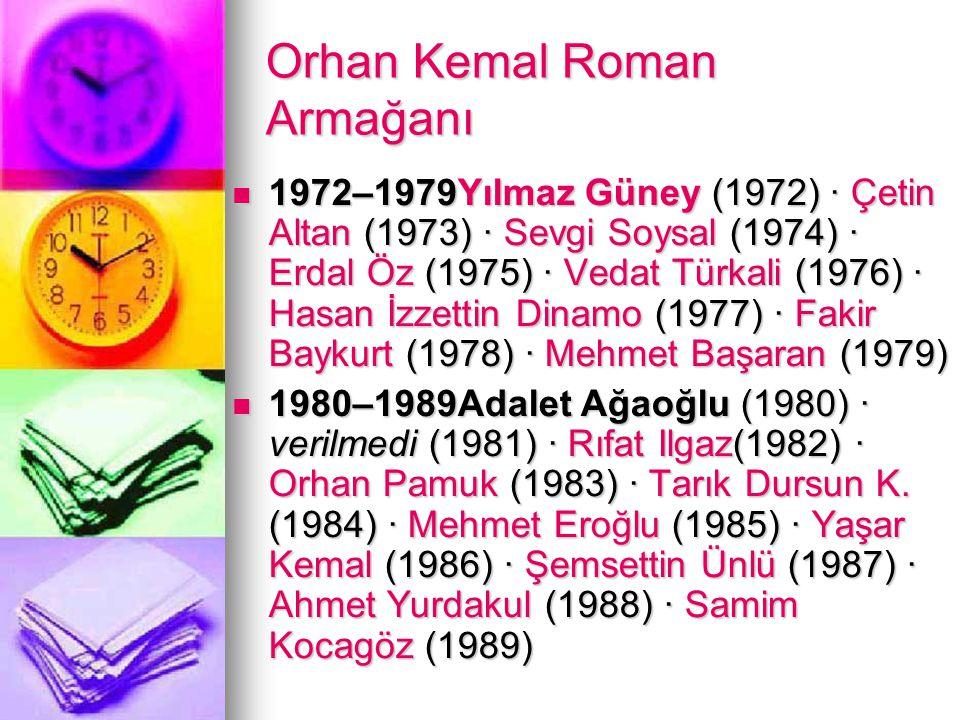 Orhan Kemal Roman Armağanı