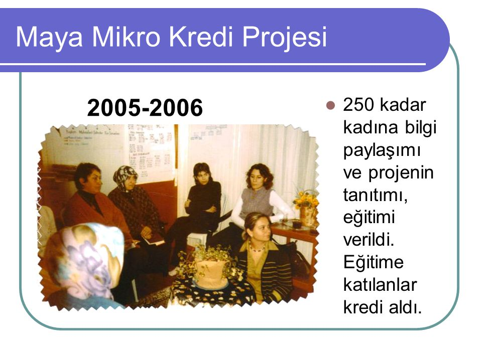 Maya Mikro Kredi Projesi