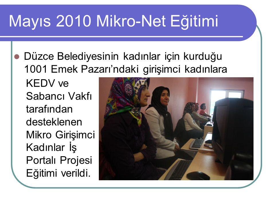 Mayıs 2010 Mikro-Net Eğitimi