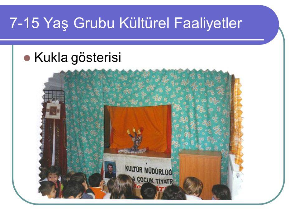 7-15 Yaş Grubu Kültürel Faaliyetler