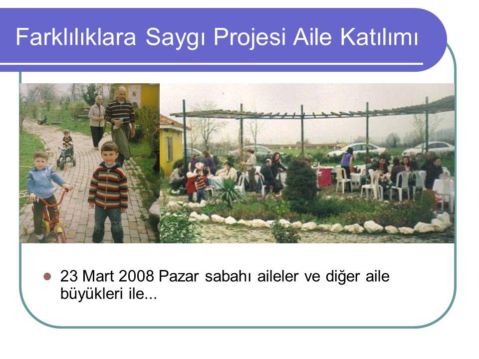 Farklılıklara Saygı Projesi Aile Katılımı