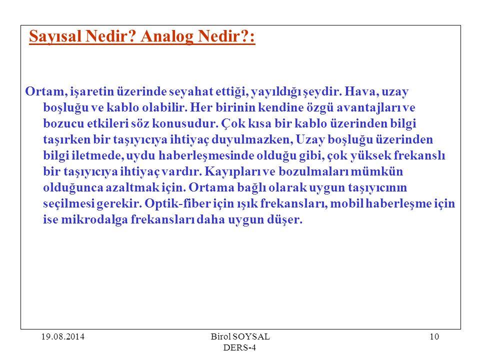 Sayısal Nedir Analog Nedir :